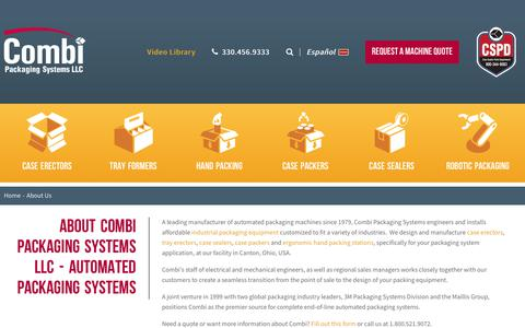 Screenshot of About Page combi.com - About Us   Combi Packaging Systems - captured Sept. 27, 2018