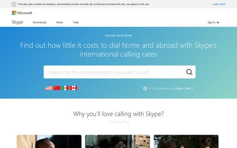 Call  directly using Skype