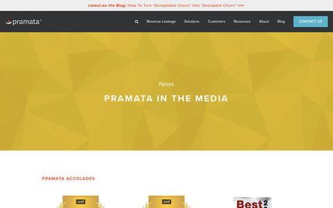 Screenshot of Press Page pramata.com - Media Coverage — Pramata - captured Feb. 22, 2019