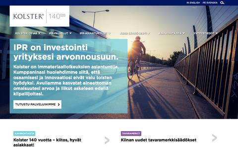 Screenshot of Home Page Menu Page kolster.fi - Kolster - captured Oct. 6, 2014