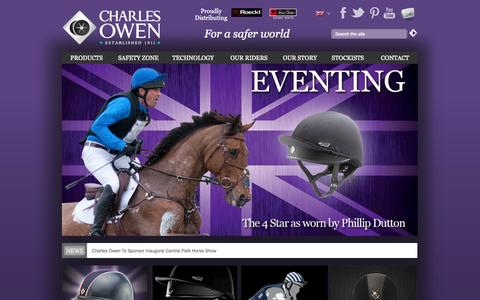 Screenshot of Home Page charlesowen.com - Home | Charles Owen & Co (Bow) Ltd - captured Sept. 29, 2014