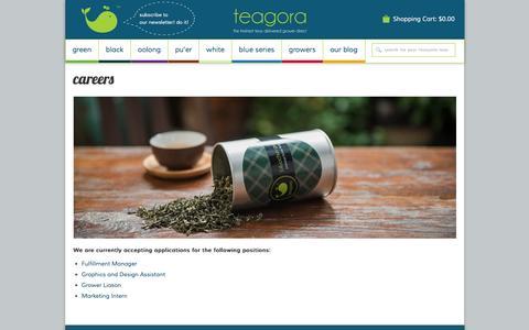Screenshot of Jobs Page teagora.com - Careers Đ Teagora - captured Jan. 10, 2016