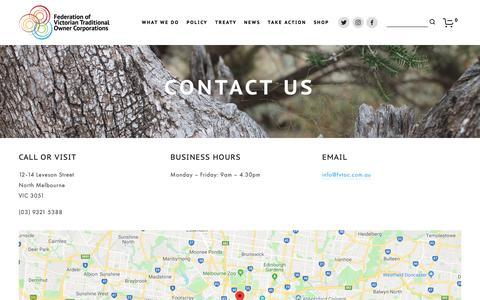 Screenshot of Contact Page fvtoc.com.au - Contact Us — FVTOC - captured Oct. 10, 2018