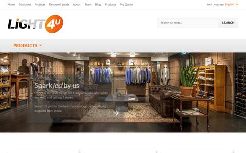 Screenshot of Products Page light-4-u.com - Home page - captured Aug. 9, 2017