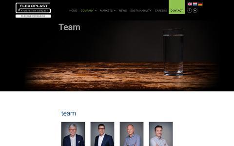 Screenshot of Team Page flexoplast.nl - team - Flexoplast - captured Nov. 16, 2018