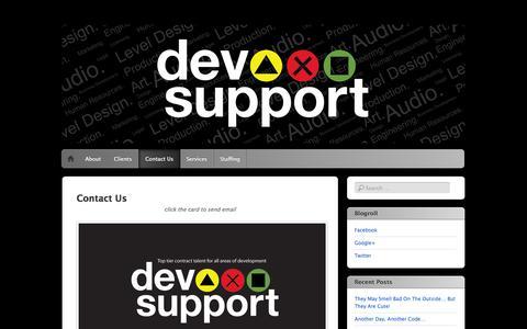Screenshot of Contact Page devsupport.com - DevSupport - The premier resource for developer talent. - captured Oct. 5, 2014