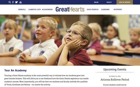 Screenshot of Signup Page greatheartsamerica.org - Tour An Academy - Great Hearts Academies : Great Hearts Academies - captured Nov. 12, 2016