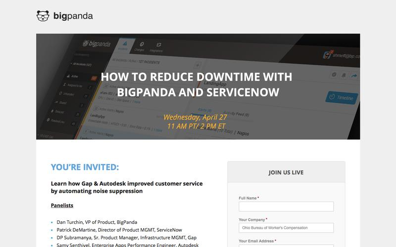 BigPanda & ServiceNow Panel Webinar