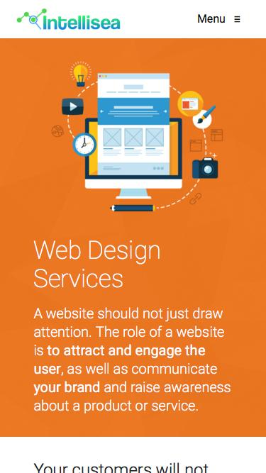 Screenshot of  intellisea.com - Services: Web Design | Intellisea