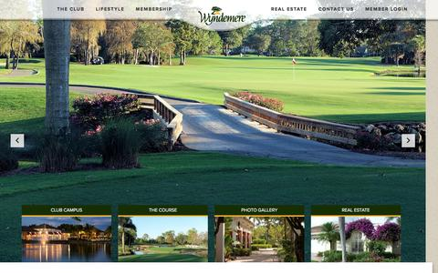 Screenshot of Home Page wyndemere.com - Home - Wyndemere Country Club - captured Feb. 15, 2016