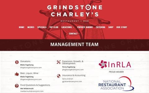 Screenshot of Team Page grindstonecharleys.com - Management - Grindstone Charleys - captured Nov. 5, 2018