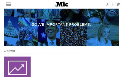 Screenshot of Jobs Page mic.com - Jobs - Mic - captured Oct. 22, 2014
