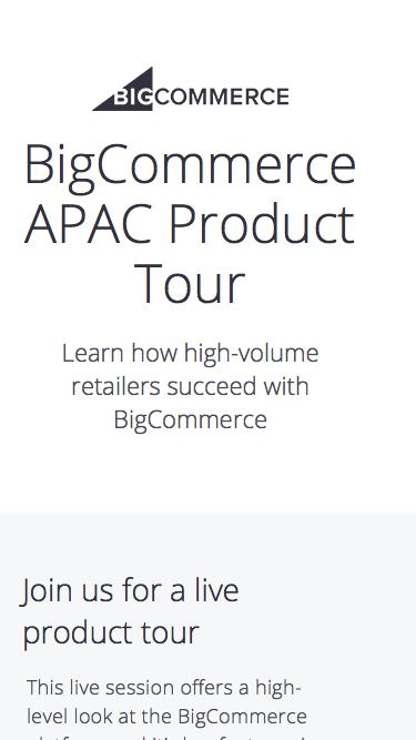 APAC Product Tour | BigCommerce