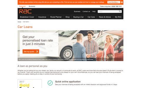 Car loans   RAC
