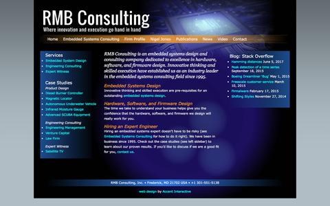 Screenshot of Home Page rmbconsulting.us - RMB Consulting: Embedded Systems Design and Consulting - captured June 18, 2017