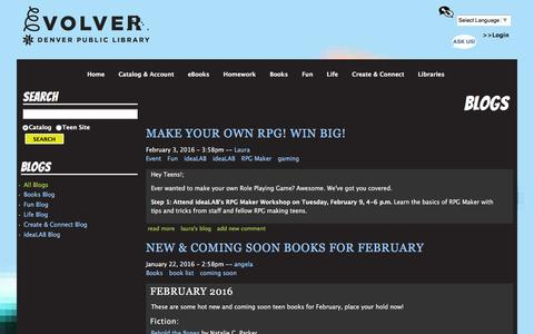 Screenshot of Blog denverlibrary.org - Blogs | Evolver - captured Feb. 4, 2016