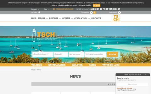 Screenshot of Press Page topsailingcharter.com - News - Top Sailing Charter - captured June 19, 2017