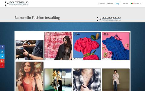 Screenshot of Blog bolzonello.it - Fashion Blog | Bolzonello Rappresentanze Abbigliamento - captured Oct. 10, 2017