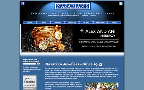 Screenshot of Locations Page nazariandiamonds.com - Nazarian Jewelers for Diamonds, Watches, Lovelinks, Gifts and more - captured Oct. 26, 2014