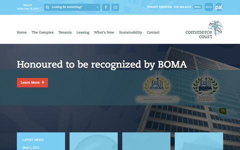 Screenshot of Home Page commerce-court.com - Commerce Court - captured June 19, 2015