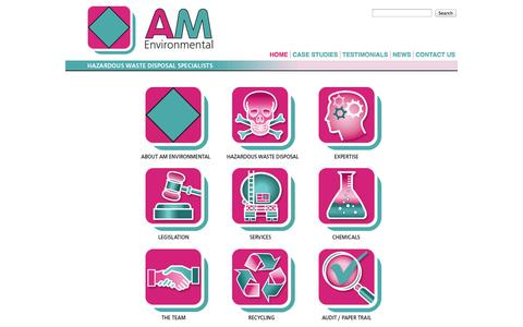 Screenshot of Home Page ameml.co.uk - AM Environmental : Hazardous Waste Disposal Specialists - captured Oct. 2, 2014