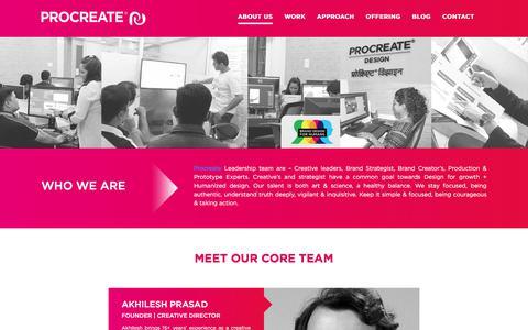 Screenshot of About Page procreatebranding.com - About Procreate Design – Brand & Corporate Identity Design Agency In Mumbai ,India - captured Oct. 19, 2019