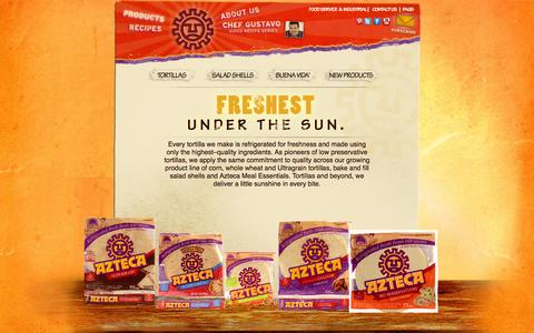 Screenshot of Products Page aztecafoods.com - Azteca Tortillas | Tortilla Products - captured Oct. 4, 2014