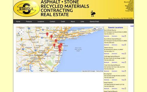 Screenshot of Locations Page stavola.com - Stavola - Locations - captured Oct. 7, 2014