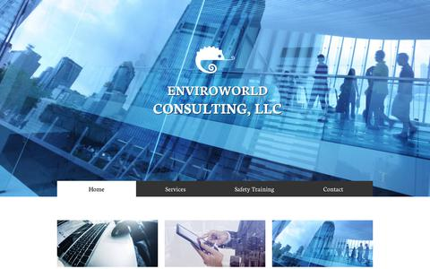 Screenshot of Home Page enviroworldconsulting.com - Home - captured July 10, 2017