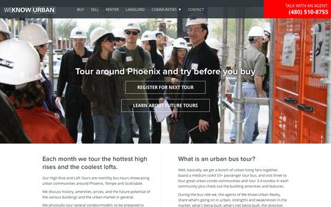 Screenshot of Signup Page weknowurban.com - Loft and High Rise Condo Tour - Phoenix Scottsdale and Tempe AZ - captured Dec. 3, 2016