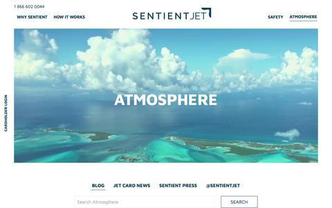 Screenshot of Blog sentient.com - Blog Archives - Sentient Jet - captured Sept. 21, 2019