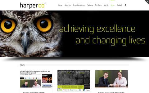 Screenshot of Press Page hco.uk.com - News - HarperCo - captured Oct. 2, 2014