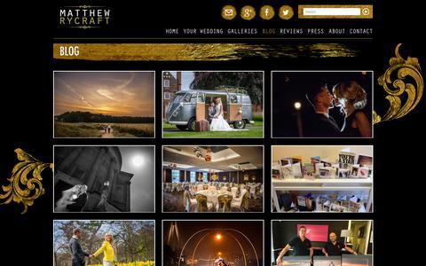 Screenshot of Blog matthewrycraft.co.uk - Professional Wedding Photographer | Blog | Matthew Rycraft - captured Oct. 27, 2014