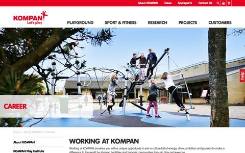 Screenshot of Jobs Page kompan.co.uk - Careers | Working at KOMPAN - captured Oct. 20, 2018