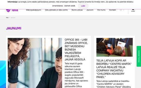 Screenshot of Press Page telia.lv - Jaunumi - Telia - captured Sept. 28, 2018
