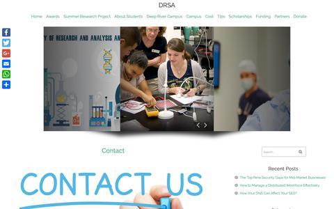 Screenshot of Contact Page drsa.ca - Contact | DRSA - captured Oct. 8, 2018