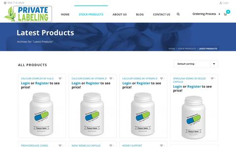 Latest Products Archives - Private Label Supplements and Vitamins