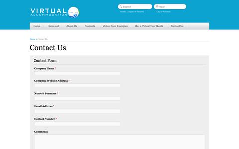 Screenshot of Contact Page virtualaccommodation.co.za - Contact-Us   Virtual Accommodation - captured Sept. 20, 2018