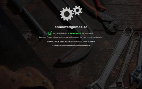 Screenshot of Home Page animatedgames.se - Domain Brokers Maintenance Work in Progress - captured Dec. 18, 2018