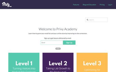 Privy Academy — Privy