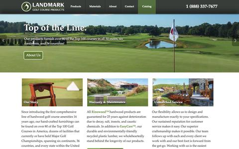 Screenshot of Home Page rinowood.com - Luxury Outdoor Golf Course Furnishings - captured Sept. 26, 2018