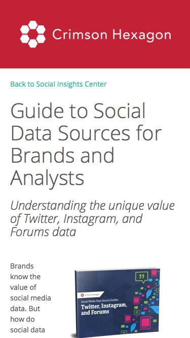 Social Media Data Guide: All Data Sources