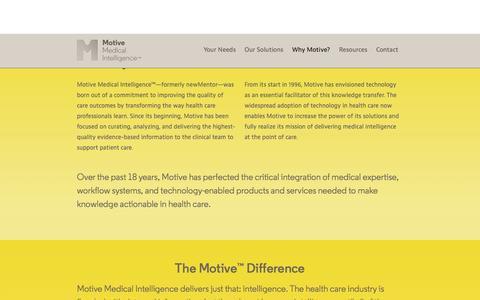 Screenshot of Team Page motivemi.com - Why Motive? - Motive Medical Intelligence - captured Sept. 16, 2014