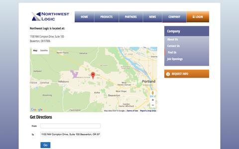 Screenshot of Maps & Directions Page nwlogic.com - Find Us - Northwest Logic - captured Feb. 15, 2016