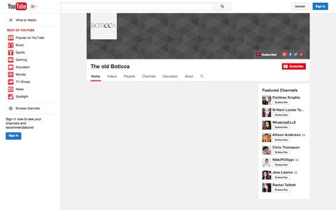 Screenshot of YouTube Page youtube.com - The old Boticca  - YouTube - captured Oct. 22, 2014