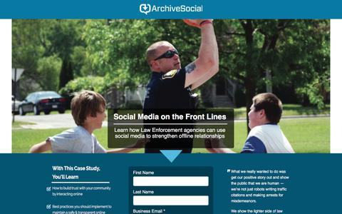 Screenshot of Landing Page archivesocial.com captured Sept. 21, 2018