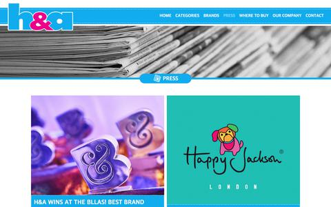 Screenshot of Press Page handa-uk.com - PRESS - Welcome to H&A - captured July 7, 2017