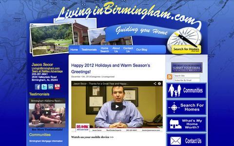 Screenshot of Home Page birminghamrealestatehomesandmortgages.com - Birmingham AL Homes - captured Oct. 6, 2014