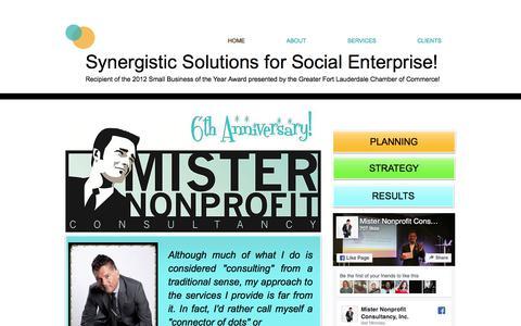 Screenshot of Home Page misternonprofitconsultancy.com - Mister Nonprofit Consultancy - captured Nov. 6, 2017