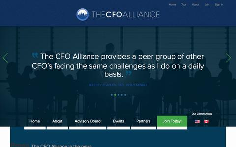 Screenshot of Press Page thecfoalliance.org - The CFO Alliance, a community of financial leaders and experts who share their experience, knowledge, and wisdom. - captured Sept. 30, 2014